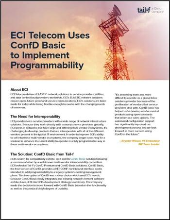 ECI Telecom Case Study Image