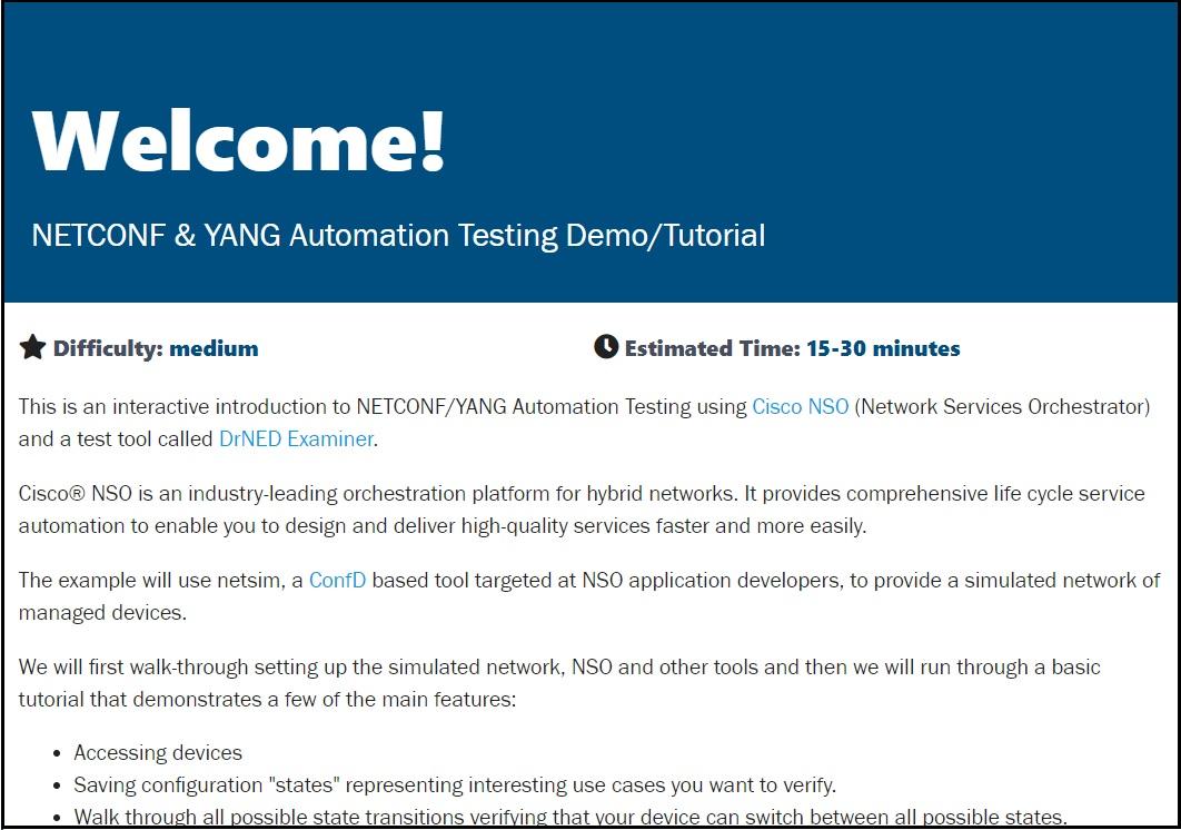 NETCONF & YANG Programmability Demo Image V2