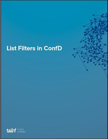 List Filter In ConfD AppNote Image
